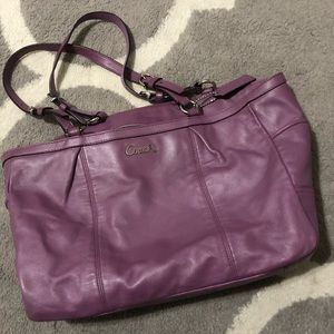 Purple Coach purse